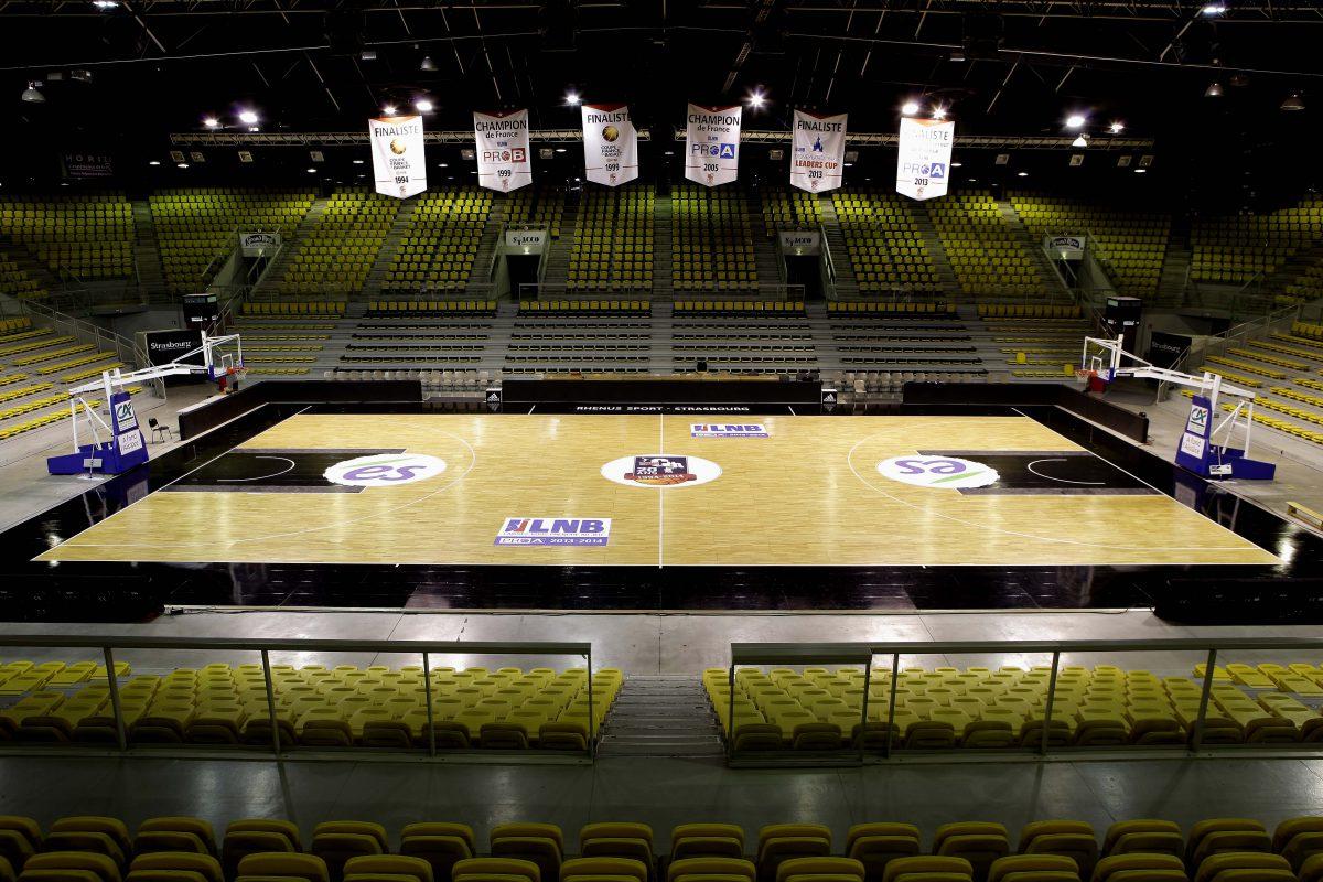 Sols sportifs salle Rhénus de Strasbourg